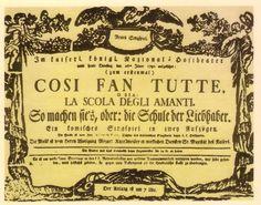 COSÌ FAN TUTTE (1790)  Wolfgang Amadeus Mozart  Libreto: Lorenzo da Ponte