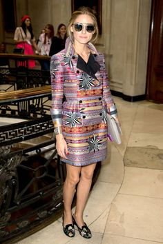 Obsessed with Olivia Palermo's crazy patterns here!