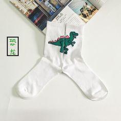Fun T-rex dinosaur cotton gym socks. Be the beast in you. Item Type: Sock Thickness: Standard Brand Name: LONGMAOYIJIA Sock Type: Casual Model Number: Korean socks Material: Cotton material: cotton so