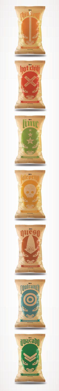 Luchador Chips on Behance