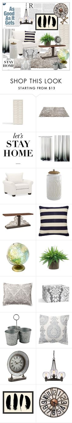 """""""As good as it gets"""" by bleucabbage ❤ liked on Polyvore featuring interior, interiors, interior design, home, home decor, interior decorating, Pottery Barn, Pier 1 Imports, Kate Spade and NDI"""
