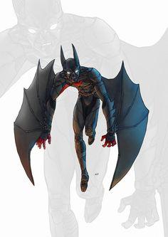 Batman Beyond color by adivider Dc Comics Vs Marvel, Dc Comics Art, Fun Comics, Cosmic Comics, Superman, Batman Suit, Batman Fan Art, Im Batman, Nightwing