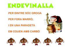 Els Petits Infants: Endevinalles de la tardor !!!! Valencia, Spanish Teacher, Riddles, Poems, 1, Comics, Children, Infants, Halloween