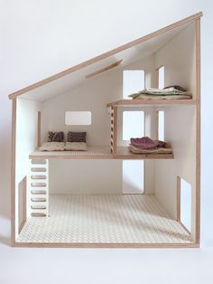 Simple doll house with slanted roof