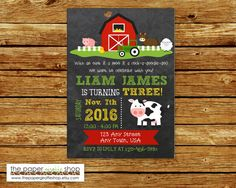 Farm Birthday Invitation  Farm Birthday by ThePaperGiraffeShop