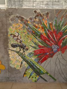 mosaique Dragonfly on branch with flowers Mosaic Tile Art, Mosaic Artwork, Pebble Mosaic, Mosaic Crafts, Mosaic Projects, Stone Mosaic, Mosaic Glass, Stained Glass, Mosaic Ideas