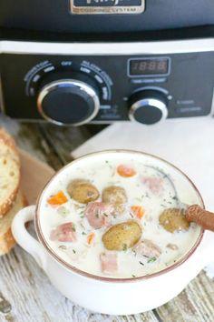 The Country Cook: Crock Pot Potato & Ham Soup