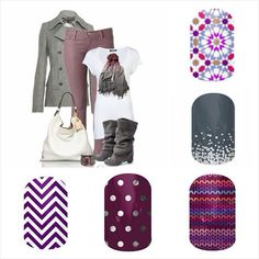 Fall/Winter Jamberry Outfit combo. Find these awesome wraps and more  https://sarahkirby.jamberry.com/