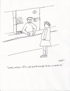 "Someone please explain to me why ""The New Yorker"" didn't published this hilarious cartoon of mine."