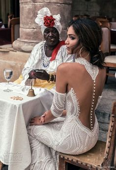 julie vino fall 2018 havana sleeveless halter jewel neck deep plunging sweetheart neck full embellishment elegant sexy fit and flare sheath wedding dress shear button back sweep train zbv -- Julie Vino Fall 2018 Wedding Dresses Sexy Wedding Dresses, Bridal Dresses, Wedding Gowns, Bridesmaid Dresses, Tattoo Wedding Dress, Dresses Dresses, Dream Dress, Boho Wedding, Mermaid Wedding