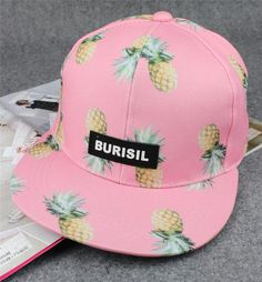 Pineapple Pattern Summer Fashion Style Lovely Women Gift - Hat    4697434308. Boné Aba Reta ... 1ac60468fa8