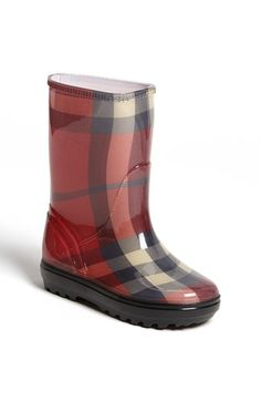 Burberry 'Sam' Boot (Walker, Toddler, Little Kid & Big Kid) Claret Pink