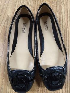f57d0e619e4 Michael Kors Fulton Moc Black Leather Womens Loafers Shoes Sz 6.5  fashion   clothing
