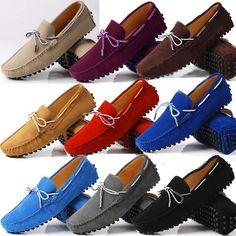 Can't get enough of drivers Mens Shoes Boots, Denim Shoes, Shoe Boots, Stylish Mens Fashion, Mens Fashion Shoes, Style Fashion, Loafer Shoes, Loafers Men, Classic Men