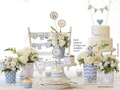 winter baby shower ideas   CathysWraps flower vases are perfect for bridal showers, baby showers ...