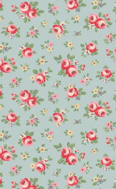 Cath Kidston - Kensington Rose Print....for the backs of armoires or cabinets? Bookshelves?