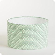 Nos dernières créations > Abat-jour / suspension cylindrique tissu Shawa : Fabuleuse Factory