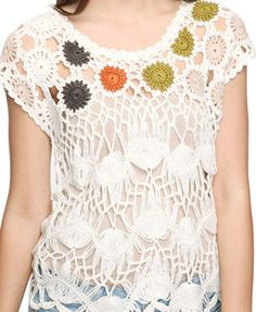 Coloured Dots Crochet Top. Forever 21