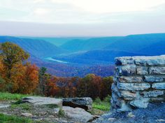Hyner lookout, PA.  My parents were married here, just a few miles from our family cabins.  My absolute favorite place to spend a beautiful fall afternoon is just on the otherside of that wall.