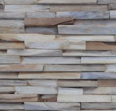 Brooklyn Reclaimed Wood Wall (made from new hardwood left over from the furniture industry) by Wonderwall Studios