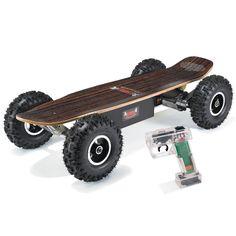 The All Terrain Electric Skateboard - Hammacher Schlemmer