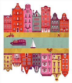 Amsterdam  -  #citta #amsterdam #illustrazione
