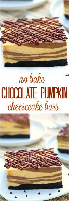 A cheesecake that crossed paths with a pumpkin pie, these marble no bake…