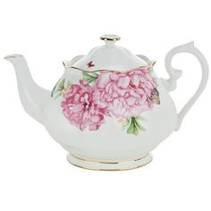 Miranda Kerr for Royal Albert Friendship Teapot (1.25L) ($78) ❤ liked on Polyvore featuring home, kitchen & dining, teapots, fillers, kitchen, tea, home decor, tea pot, tea-pot and royal albert teapot