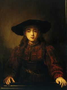 Girl in a Picture Frame - Rembrandt van Rijin