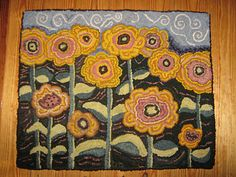 my newest completed hooked rug.