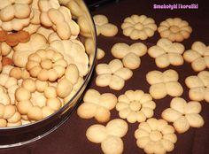 Kruche ciasteczka z maszynki | Smakołyki i koraliki