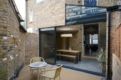 Brenthouse by Arboreal Architecture Extension Veranda, Rear Extension, Extension Ideas, Space Architecture, Residential Architecture, Pivot Doors, Built In Furniture, Victorian Terrace, Glass Boxes