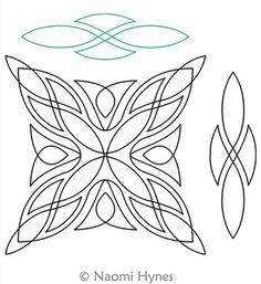 quilting template pattern for orange peels or wedding rings