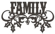 Family ornate word silhouette by hilemanhouse on Etsy, $6.95