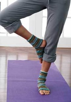 Yoga Socks Knitting Pattern | FaveCrafts.com