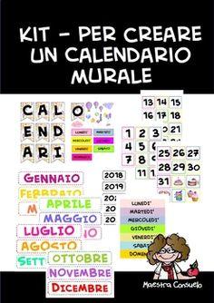Kit Calendario Murale Fantasia Acquerello 1 Words Word Search Puzzle Periodic Table