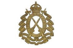 Badge. 6th Dragoon Guards (Carabiniers) Edwardian pouch badge circa 1905. A fine and scarce die-s