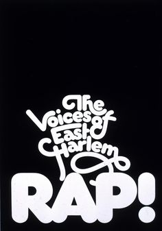 """""""The Voices Of East Harlem Rap!"""" poster1970"""
