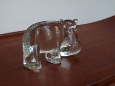 Vintage Kosta Boda Zoo Series Flat Back Hippo by Eight Mile Vintage on Etsy