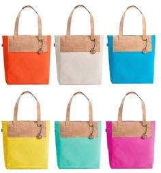 Hot Pink - Cork sunshine tote bag for a walk on the beach ...