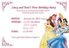 Disney Princess Information Card