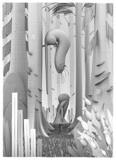 Alice in Wonderland by Yuo Tengara, via Behance
