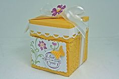 Splitcoaststampers - Tutorials  all in one box  made with one sheet of paper