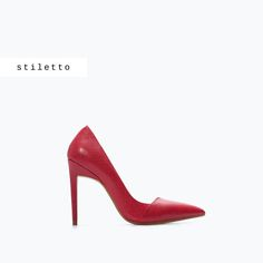 28cf6de6417454 Image 1 of COMBINED HIGH HEEL COURT SHOE from Zara Talon Rouge, Mode Rouge,