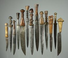 West African daggers..jpg - African sword and knife - African Weapons