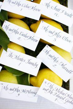 Lemons and Escort Cards