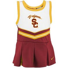 For your Red & Gold Baby!  : )     lol.  Nike USC Trojans Infant Cardinal Cheer Dress & Bloomers