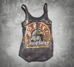 Women's Eagle Tank...Seen this at the Harley Shop...Want It!✿