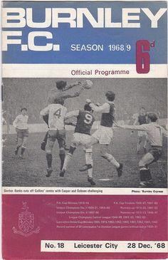 Vintage Football (soccer) Programme - Burnley v Leicester City, season Football Program, Football Soccer, Vintage Gifts, Etsy Vintage, Gordon Banks, Burnley Fc, Leeds United, Vintage Football, Fa Cup