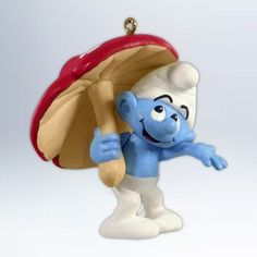 QXI2714 Smurfy Days The Smurfs 2012 Hallmark Keepsake Ornament -- Wow! I love this. Check it out now! : Ornaments Home Decor